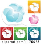 Clipart Of Colorful Cloud Designs Royalty Free Vector Illustration by cidepix