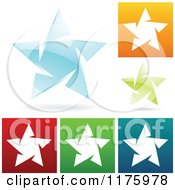 Clipart Of Colorful Ice Star Designs Royalty Free Vector Illustration by cidepix