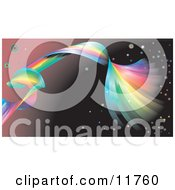 Spiraling Rainbow Background Clipart Illustration by AtStockIllustration
