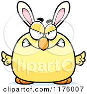 Cartoon Of A Mad Easter Chick With Bunny Ears Royalty Free Vector Clipart by Cory Thoman