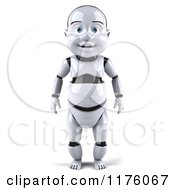 Clipart Of A 3d Baby Robot Royalty Free CGI Illustration by Julos