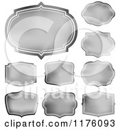 Clipart Of Silver Frames And Labels Royalty Free Vector Illustration