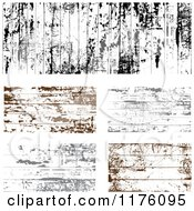 Clipart Of Black Gray And Brown Grungy Wood Panels Royalty Free Vector Illustration by BestVector
