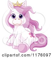 Cartoon Of A Clumsy Purple Princess Pony Royalty Free Vector Clipart
