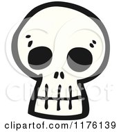 Cartoon Of A Skull Royalty Free Vector Illustration by lineartestpilot