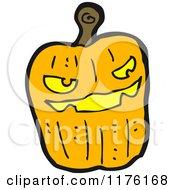 Cartoon Of A Jack O Lantern Royalty Free Vector Illustration by lineartestpilot