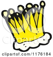 Cartoon Of A Kings Crown Royalty Free Vector Illustration