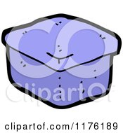 Cartoon Of A Blue Box Or Container Royalty Free Vector Illustration