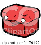 Cartoon Of A Red Box Or Container Royalty Free Vector Illustration