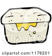 Cartoon Of A Gray Box With Slime Or Container Royalty Free Vector Illustration