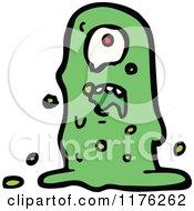 Cartoon Of A Green Goblin Royalty Free Vector Illustration