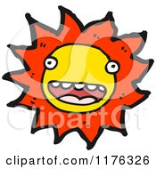 Cartoon Of A Smiling Sun Royalty Free Vector Illustration by lineartestpilot