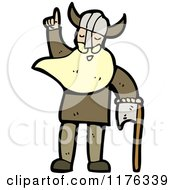 Cartoon Of A Viking Royalty Free Vector Illustration by lineartestpilot