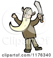 Cartoon Of A Viking Royalty Free Vector Illustration