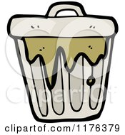 Cartoon Of A Smelly Trash Can Royalty Free Vector Illustration