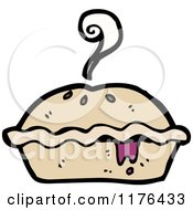 Cartoon Of A Pie Royalty Free Vector Illustration