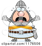 Cartoon Of A Screaming Knight Royalty Free Vector Clipart