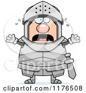 Cartoon Of A Screaming Armoured Knight Royalty Free Vector Clipart