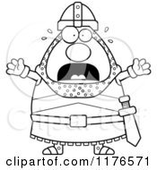 Cartoon Of A Black And White Screaming Knight Royalty Free Vector Clipart