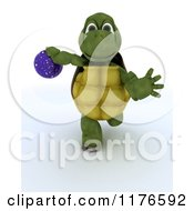 Clipart Of A 3d Tortoise Swinging A Bowling Ball 2 Royalty Free CGI Illustration by KJ Pargeter