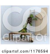 3d Tortoises Decorating An Interior