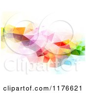 Clipart Of An Abstract Sparkly Colorful Triangle Patterned Background Royalty Free Vector Illustration