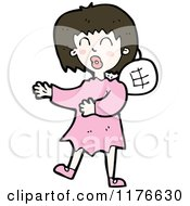 Cartoon Of A Young Girl With Fairy Wings Royalty Free Vector Illustration by lineartestpilot