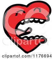Cartoon Of A Singing Red Heart Royalty Free Vector Illustration