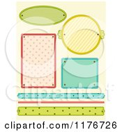 Cartoon Of Colorful Striped And Dot Design Elements Royalty Free Vector Clipart