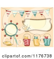 Cartoon Of Nautical Beach Party Design Elements Royalty Free Vector Clipart by BNP Design Studio