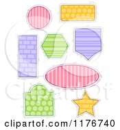 Cartoon Of Colorful Patterned Frames In Different Shapes Royalty Free Vector Clipart