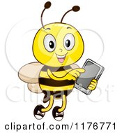 Happy Bee Using A Tablet Computer