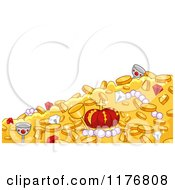 Cartoon Of A Background Of Pirate Treasures Royalty Free Vector Clipart by BNP Design Studio