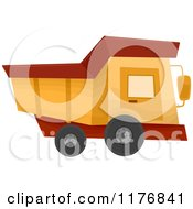 Cartoon Of A Construction Dump Truck Royalty Free Vector Clipart by BNP Design Studio