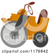 Cartoon Of A Construction Road Roller Royalty Free Vector Clipart