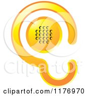 Clipart Of A Gradient Yellow Ear Design With A Speaker Royalty Free Vector Illustration