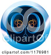 Clipart Of A Blue And Black Kidney Icon Royalty Free Vector Illustration by Lal Perera