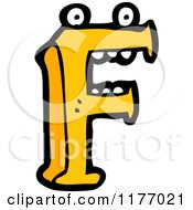 Cartoon Of The Letter F Royalty Free Vector Illustration