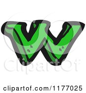 Cartoon Of The Letter W Royalty Free Vector Illustration
