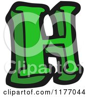 Cartoon Of The Letter H Royalty Free Vector Illustration