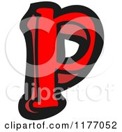 Cartoon Of The Letter P Royalty Free Vector Illustration