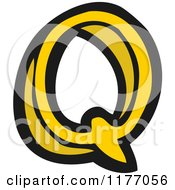 Cartoon Of The Letter Q Royalty Free Vector Illustration