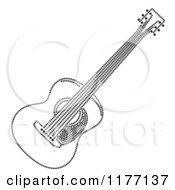 Black And White Rhinestone Dot Guitar