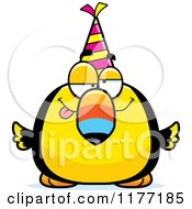 Cartoon Of A Drunk Birthday Toucan Wearing A Party Hat Royalty Free Vector Clipart by Cory Thoman