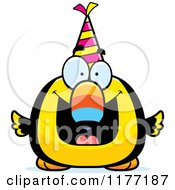 Cartoon Of A Happy Birthday Toucan Wearing A Party Hat Royalty Free Vector Clipart by Cory Thoman