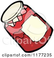 Cartoon Of A Jar Of Red Jam Royalty Free Vector Clipart