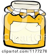 Cartoon Of A Marmalade Jar Royalty Free Vector Clipart by lineartestpilot