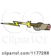 Cartoon Of A Black Hand Shooting Lightning Royalty Free Vector Clipart by lineartestpilot