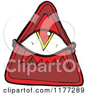 Cartoon Of A Red All Seeing Eye Royalty Free Vector Clipart