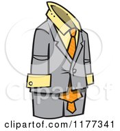 Cartoon Of An Empty Business Man Suit Royalty Free Vector Clipart